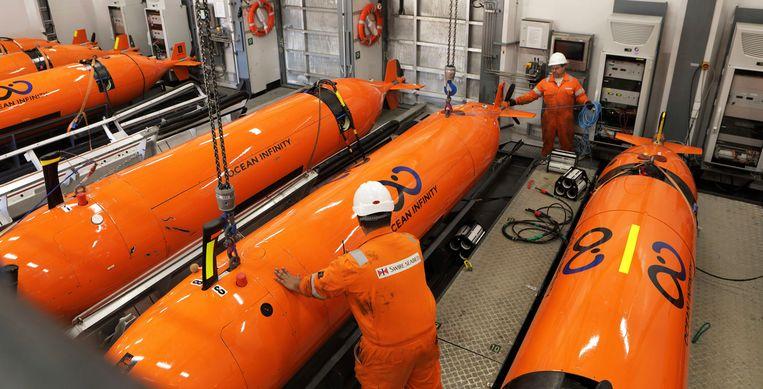 Ocean Infinity komt met groot geschut: acht onderwaterdrones. Beeld AP