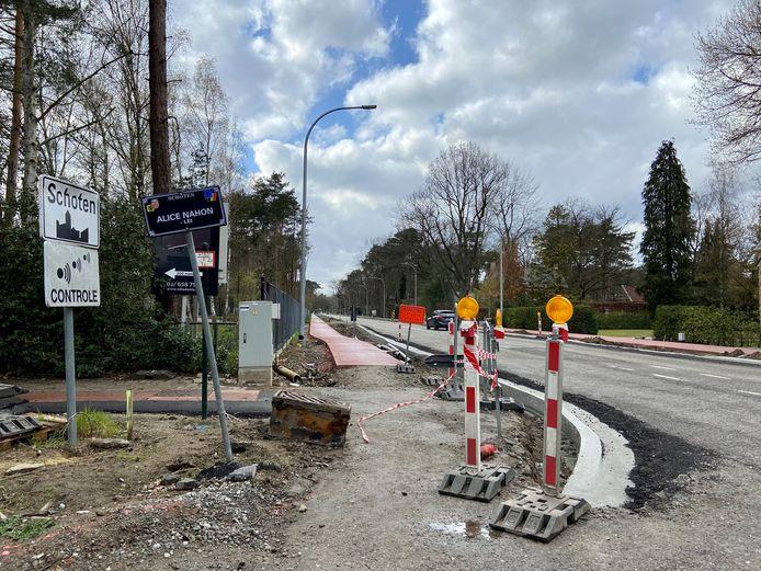 De werken aan de fietspaden langs de Botermelkbaan zijn bijna klaar