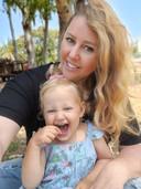 Rebecca en haar dochtertje Chloé.