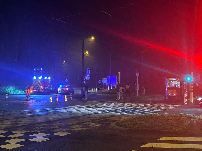 Bij het ongeval aan de Tervurenlaan waren een wagen en een tram betrokken