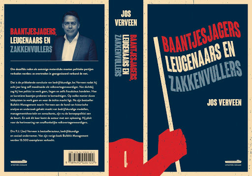 De omslag van het boek van Jos Verveen 'Baantjesjagers, Leugenaars en Zakkenvullers'