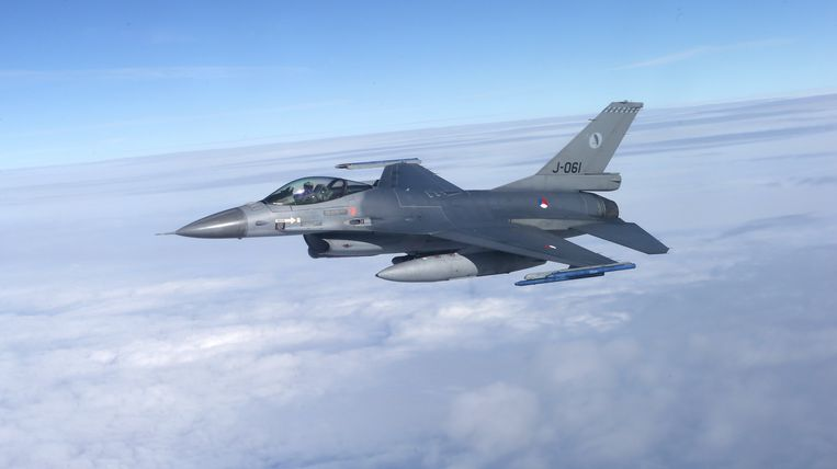 De F16's werden ingezet na de alarmmelding van de piloot.