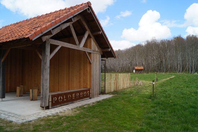 Het paviljoen bij het polderbos in Westrozebeke
