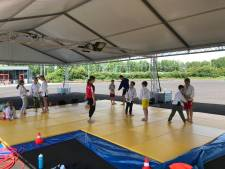 Judo Losser kan weer trainen, in een tent