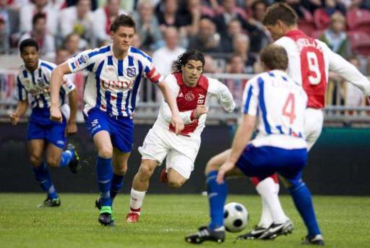 Heerenveen ging nog onderuit tegen Ajax (foto), maar nam vanavond een goede start tegen NAC Breda. Beeld UNKNOWN