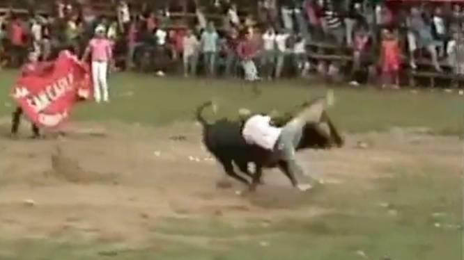 Tientallen dronken amateur-matadors gewond in arena