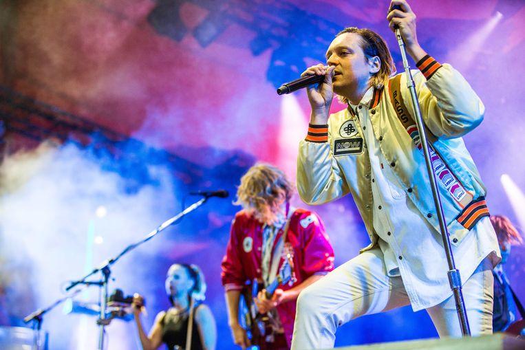 Arcade Fire staat later deze week in het Sportpaleis. Beeld Gonzales Photo/Thomas Rasmussen