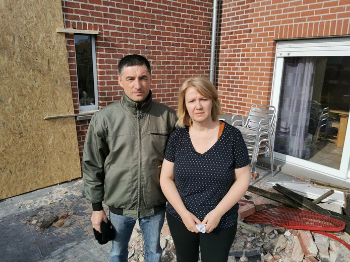 Stephaan Noë en Tania Blomtrock beseffen een dag na het ongeval aan wat ze ontsnapt zijn.