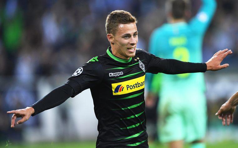 Thorgan Hazard neemt het vanavond met Borussia Mönchengladbach op tegen Manchester City. Beeld EPA