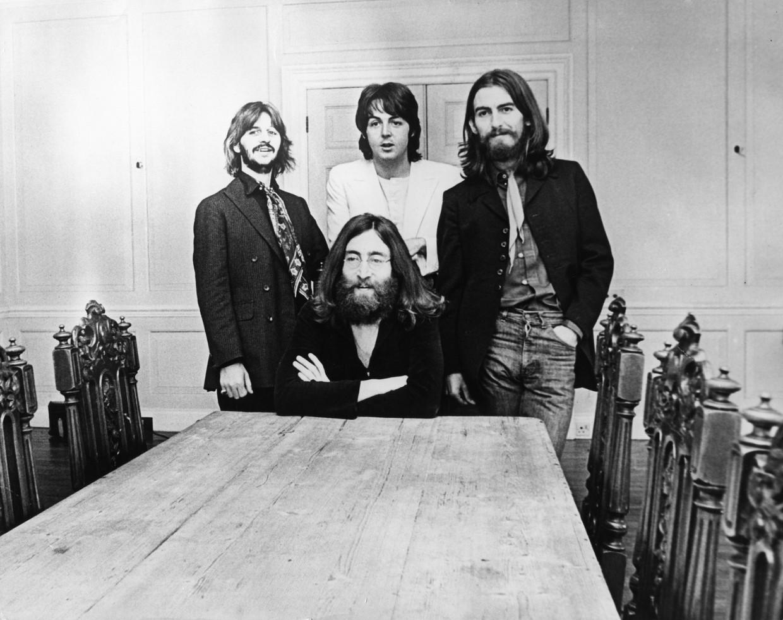 Beatles Ringo Starr, Paul McCartney, George Harrison en John Lennon in 1969.