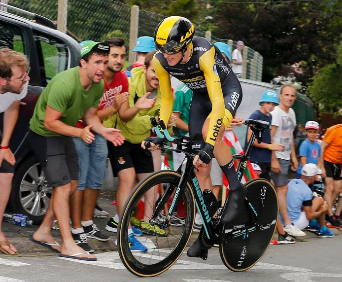 Robert Gesink in de Tour de France.