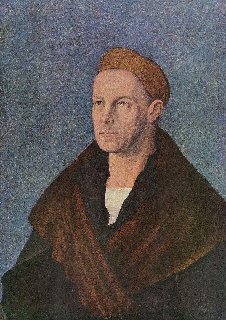 Portret van bankier Jakob Fugger, geschilderd door Albrecht Durer (rond 1520). Beeld