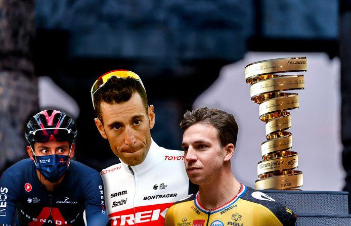 Egan Bernal, Vincenzo Nibali en Dylan Groenewegen starten alledrie met twijfels aan de Giro.