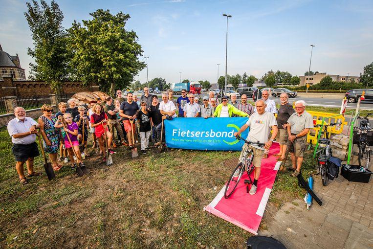 De actie van de Fietsersbond voor een extra fietstunnel in de Zandstraat.