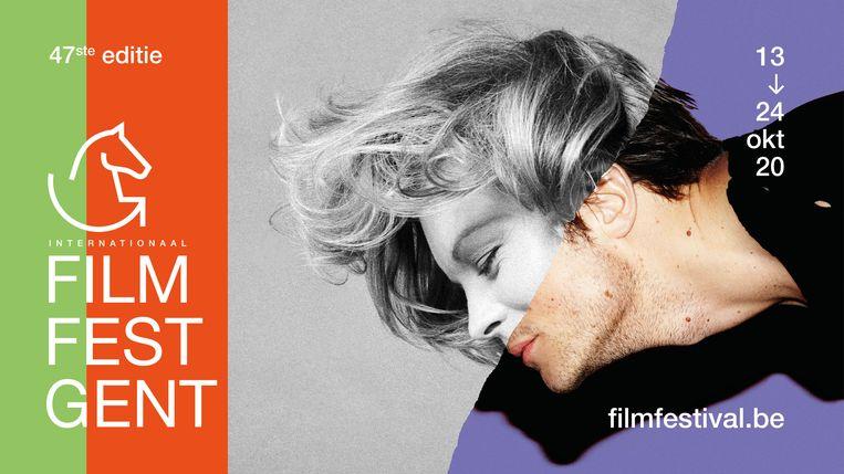 Het campagnebeeld Film Fest Gent 2020, een combinatie van de Duits-Oostenrijkse actrice Romy Schneider en van de Duitse acteur August Diehl. Beeld RV