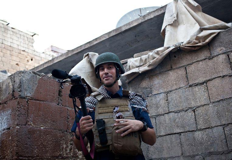 James Foley in de Syrische stad Aleppo. Beeld AFP