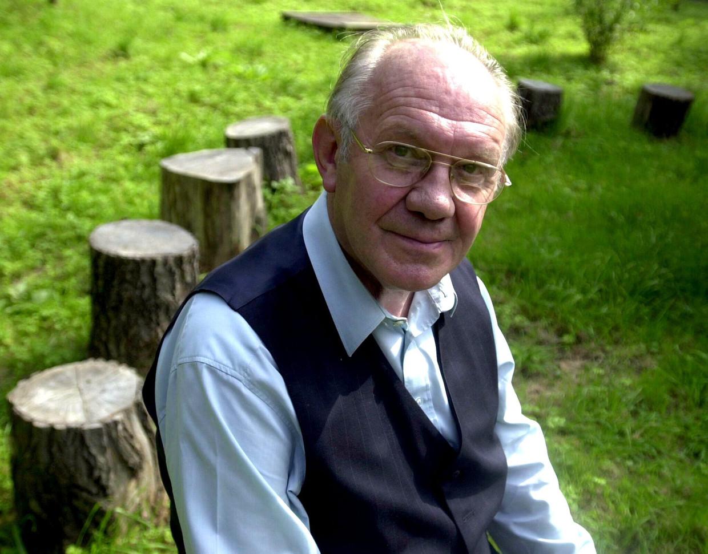 Agalev-stichter Luc Versteylen, in september 2002, de dag dat hij 75 werd. Beeld BELGA