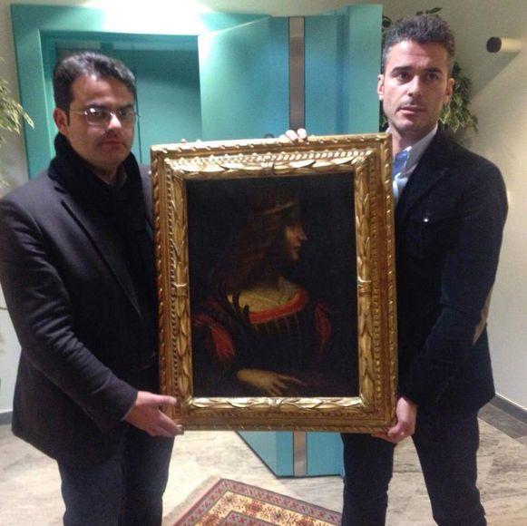 Een foto van de politie in het Zwitserse kanton Tessin van het schilderij 'Ritratto di Isabella'.