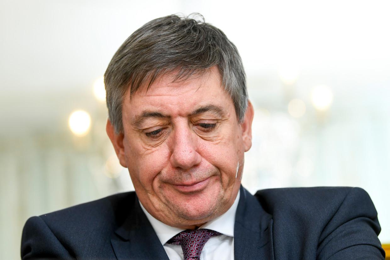 Vlaams minister-president Jan Jambon (N-VA). Open Vld en N-VA – Vlaamse coalitiepartners – liggen openlijk met elkaar in de clinch op Twitter.  Beeld BELGA