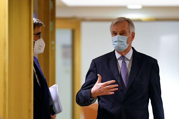 EU-hoofdonderhandelaar voor de brexit Michel Barnier Beeld REUTERS