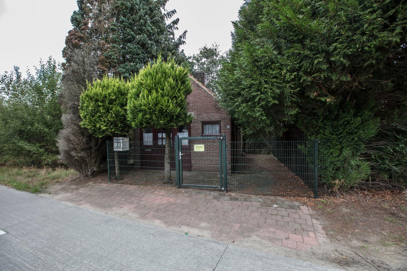 Het diepvrieshuisje aan de Ganzestraat in Hapert.