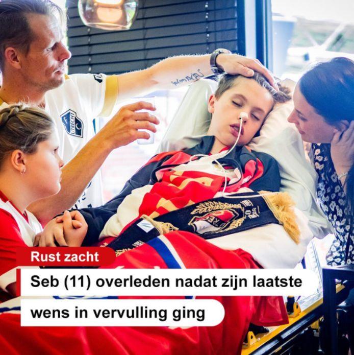 Nog één keer naar FC Utrecht gaan, dat was de laatste wens van Seb, die aan een stofwisselingsziekte leed.