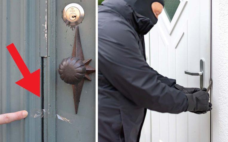 Let op als u plakband ontdekt aan uw voordeur.