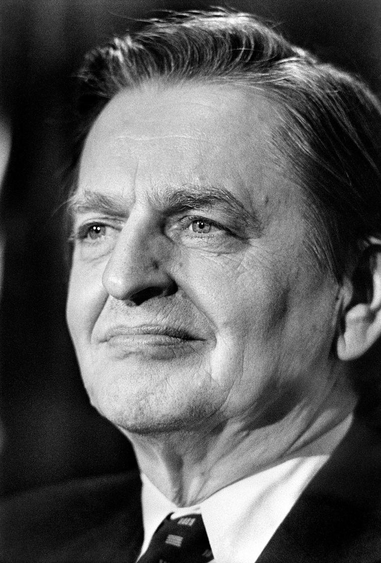 Olof Palme in de jaren tachtig.  Beeld AFP