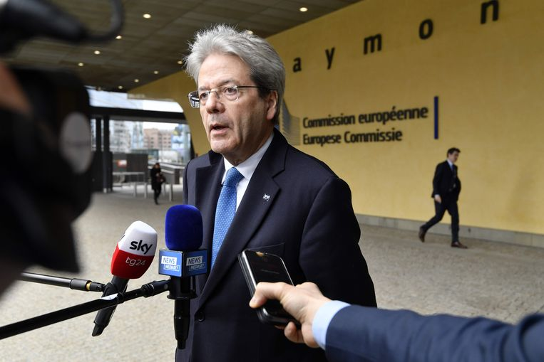 Europees Commissaris Paolo Gentiloni. Beeld AFP