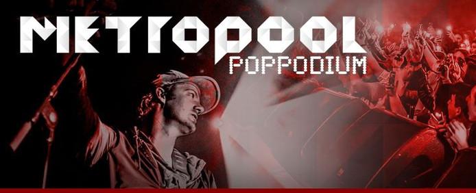 Het logo van Poppodium Metropool.