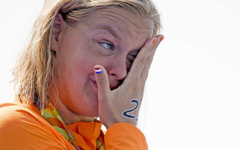 Sharon van Rouwendaal won de gouden medaille voor de 10 km openwaterzwemmen tijdens de Olympische Spelen van Rio.