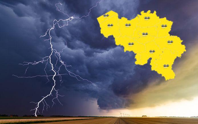 Het KMI waarschuwt in heel België met 'code geel'.