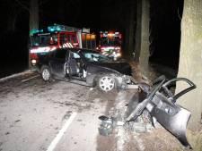 Automobilist bekneld na botsing met boom bij Sint-Annaland