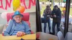 100-jarige Emilienne viert verjaardag in quarantaine