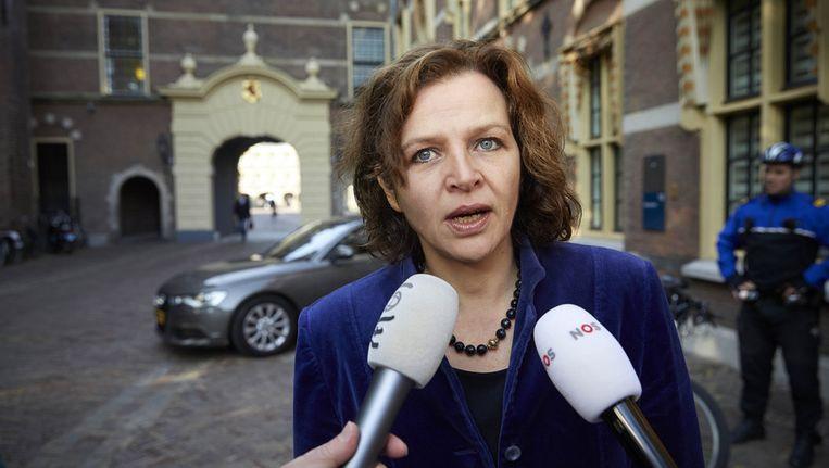 Minister Edith Schippers van Sport op het Binnenhof. Beeld ANP