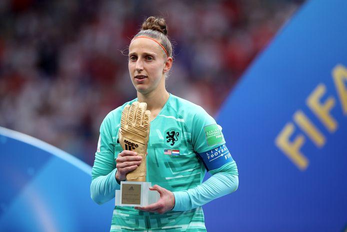 Sari van Veenendaal, de beste keeper van het WK.