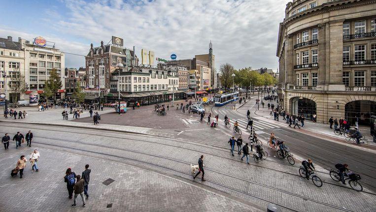 Voortaan hebben voetgangers meer ruimte op het plein. Beeld Jean-Pierre Jans