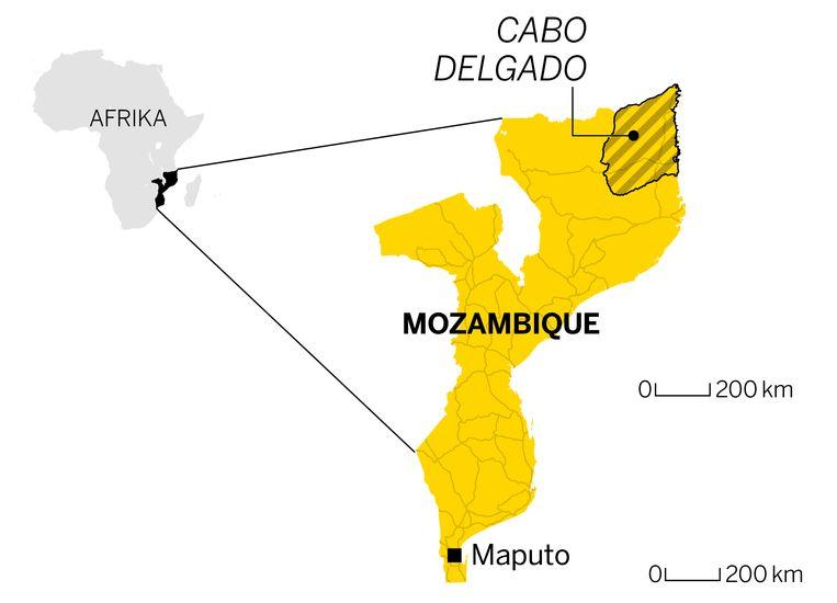 Cabo Delgado ligt in het noorden van Mozambique. Beeld Volkskrant Graphics