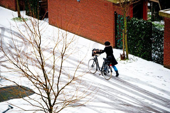 De sneeuw zorgt niet alleen voor pret.