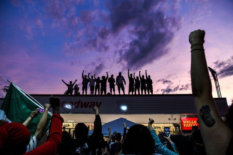 BLM-manifestatie in Minneapolis, Minnesota. Beeld AFP