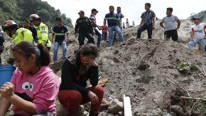 Veel doden en honderden vermisten na aardverschuiving Guatemala