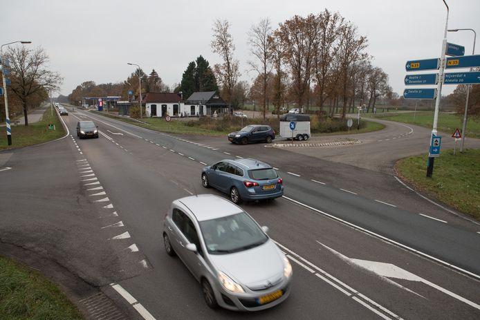 De N35 wordt begin volgende week drie nachten afgesloten tussen Haarle (foto) en Zwolle in verband met onderhoud aan de weg.