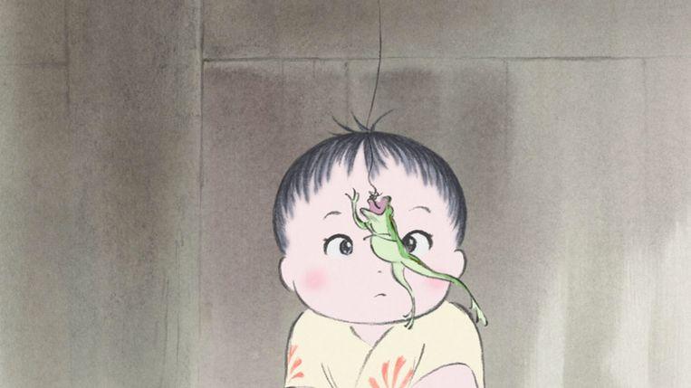 Beeld uit 'The Tale of Princess Kaguya' van Isao Takahata Beeld