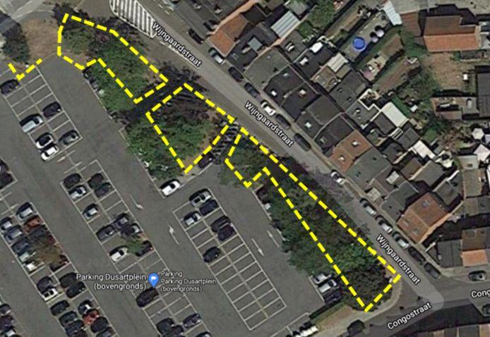 Hasselt zal schanskorven rond het groen op de Kolonel Dusart parking zetten.