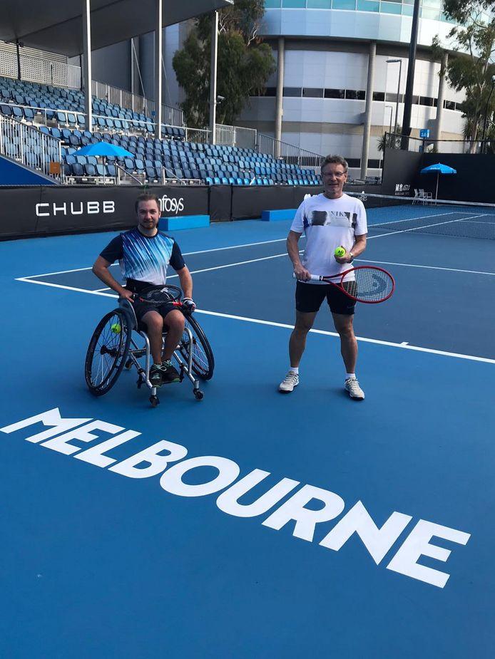 Joop Broens en Sam Schröder op de Australian Open.