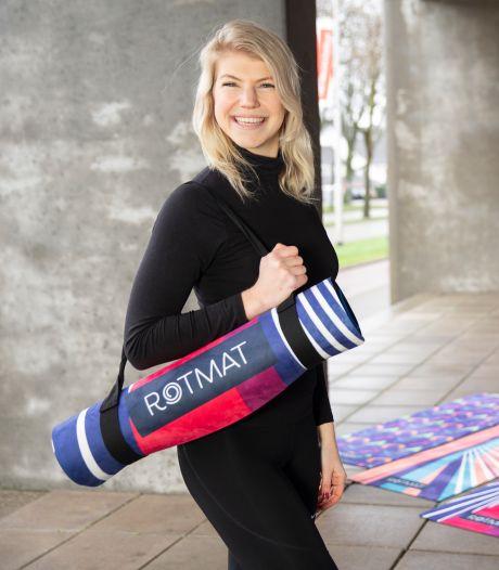 Maudi is gek van sport én Rotterdam. Dat combineert ze in de kleurrijke Rotmat