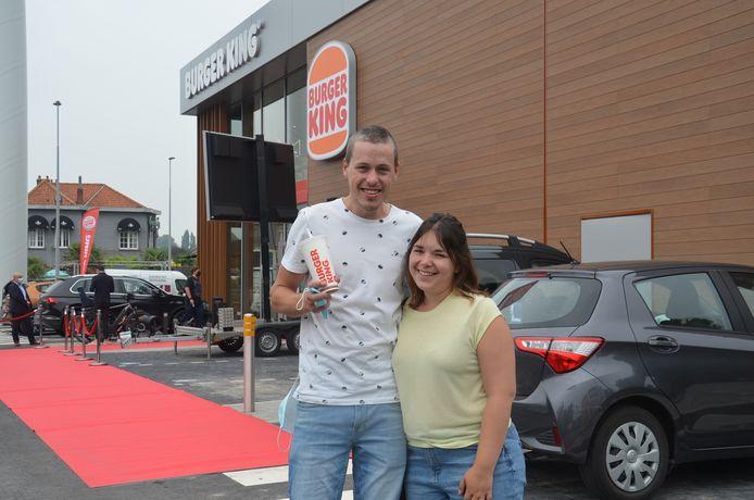 Tommy en Maurine kwamen al eens proeven op de openingsdag van Burger King Ninove.