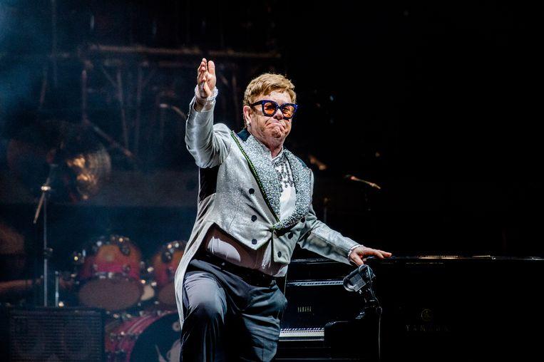 Elton John treedt op tijdens zijn Farewell Yellow Brick Road tour in de Ziggo Dome.  Beeld Hollandse Hoogte /  ANP Kippa