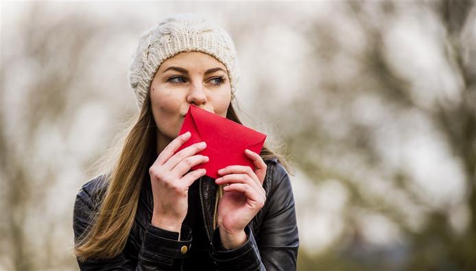 De Dordtse politie kreeg vanochtend een valentijnskaart.