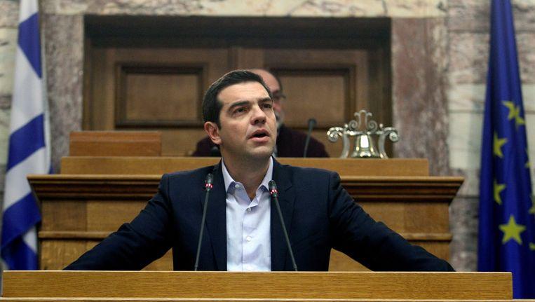 De Griekse premier Alexis Tsipras. Beeld epa